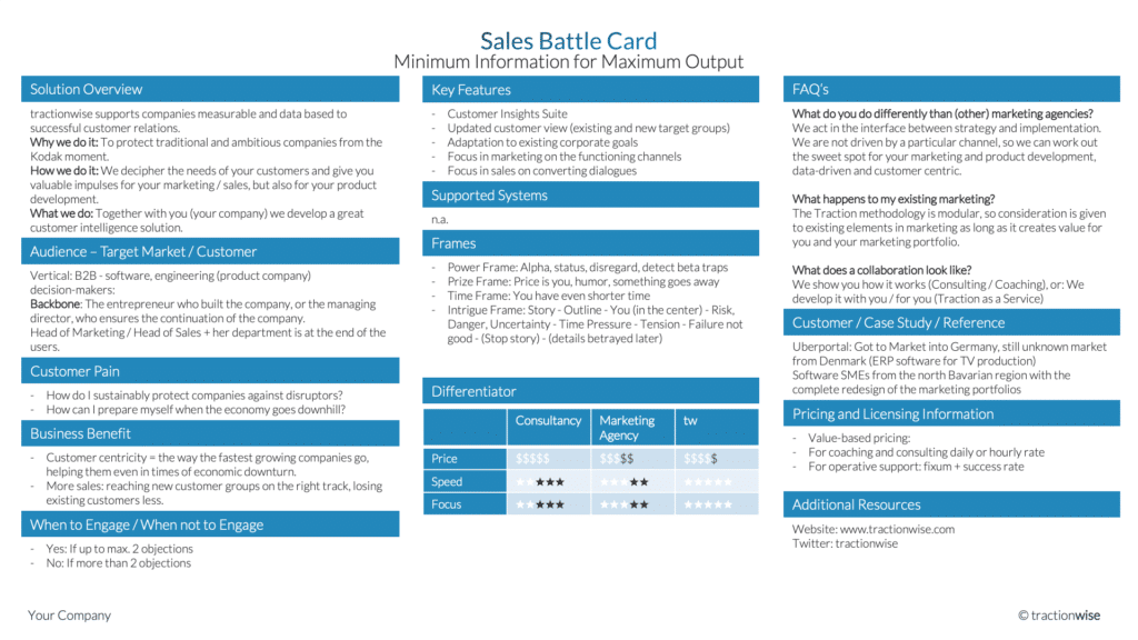 Sales Battle Card Preview