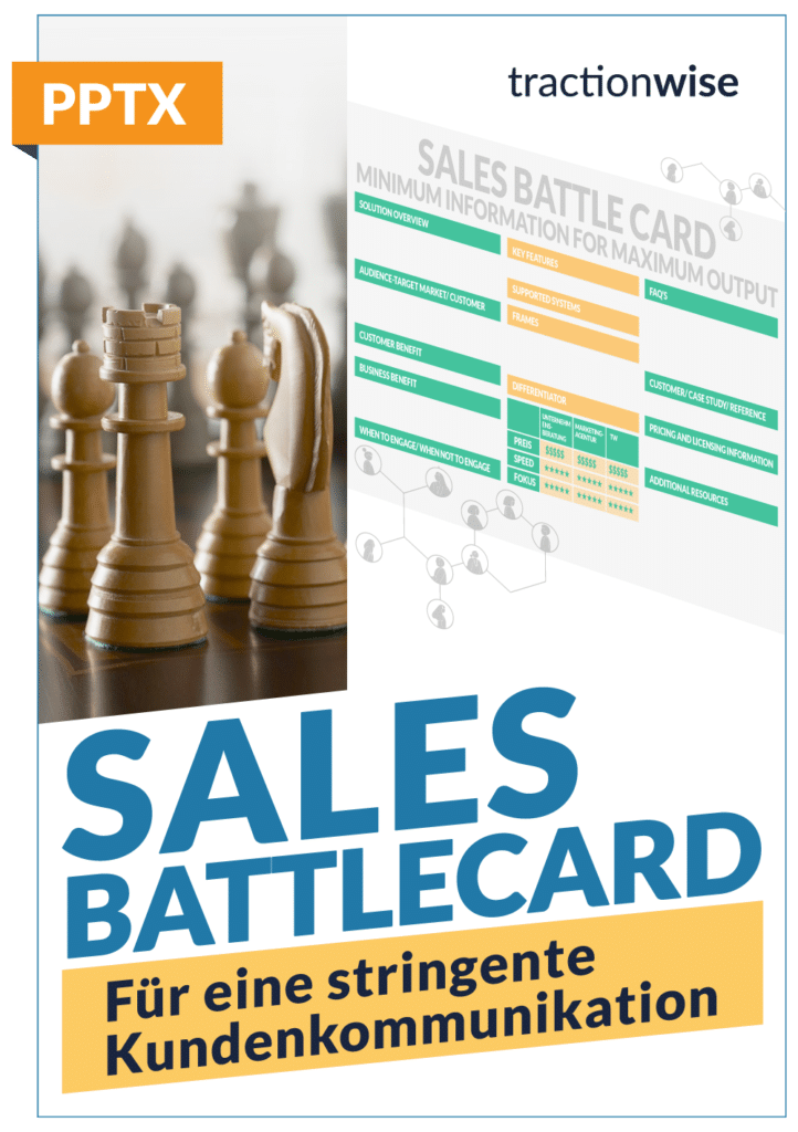 Product Sales Battlecard