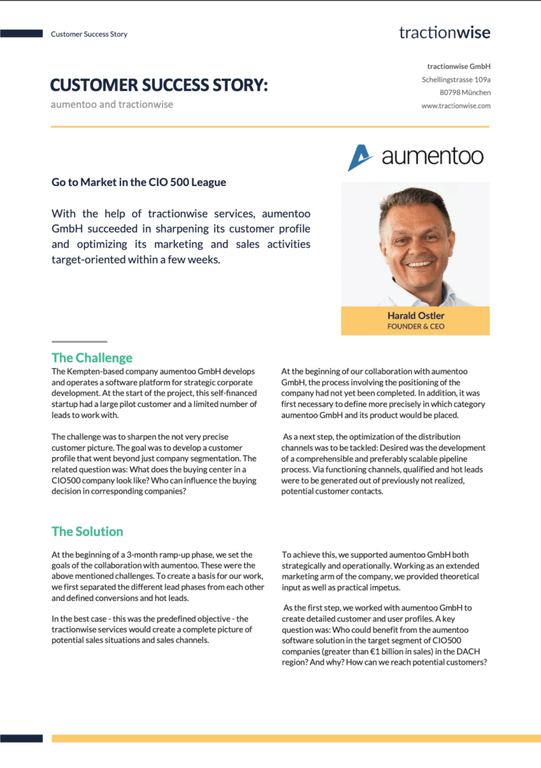 Aumentoo customer success story preview