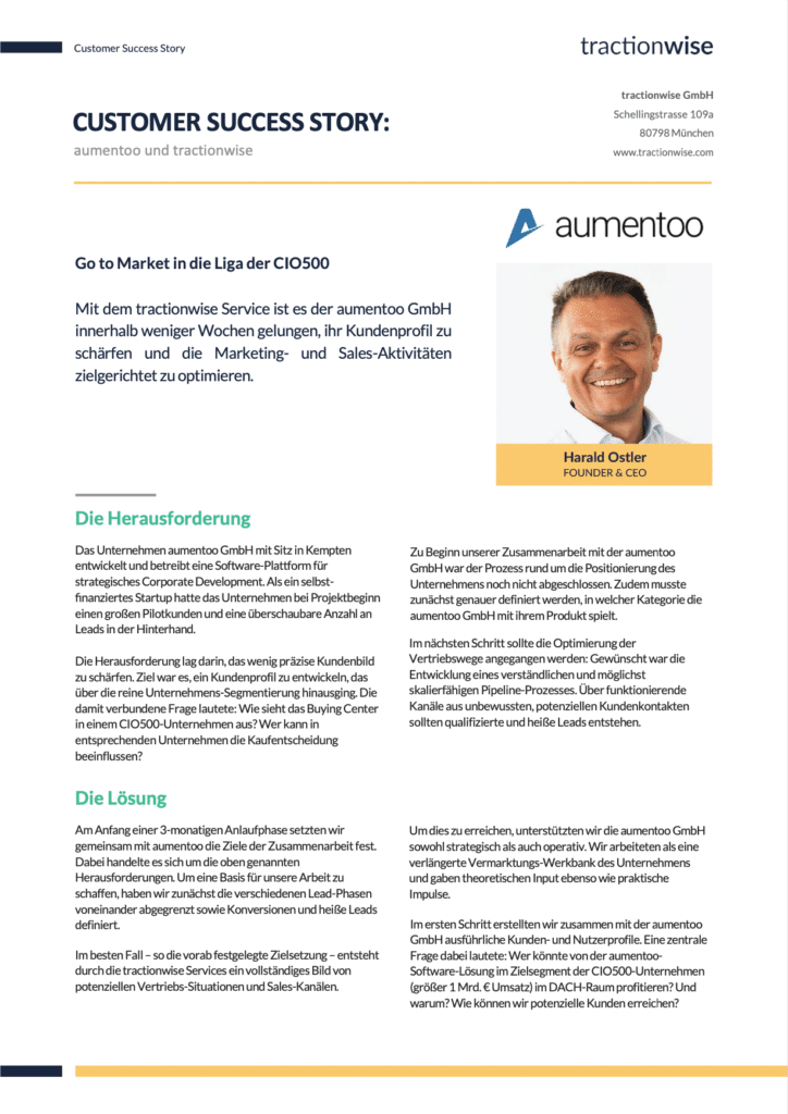 Customer Success Story Aumentoo Preview