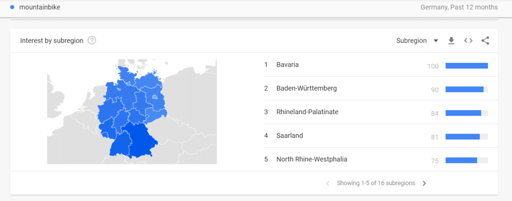 Geography Google Trends